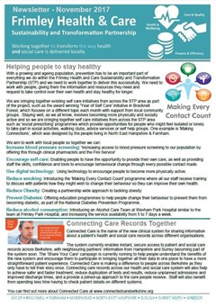 Frimley Health and Care Newsletter issue 1