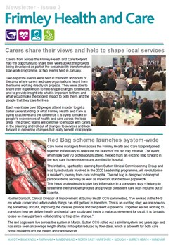 Frimley Health and Care Newsletter issue 3
