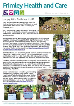 Frimley Health and Care Newsletter issue 4